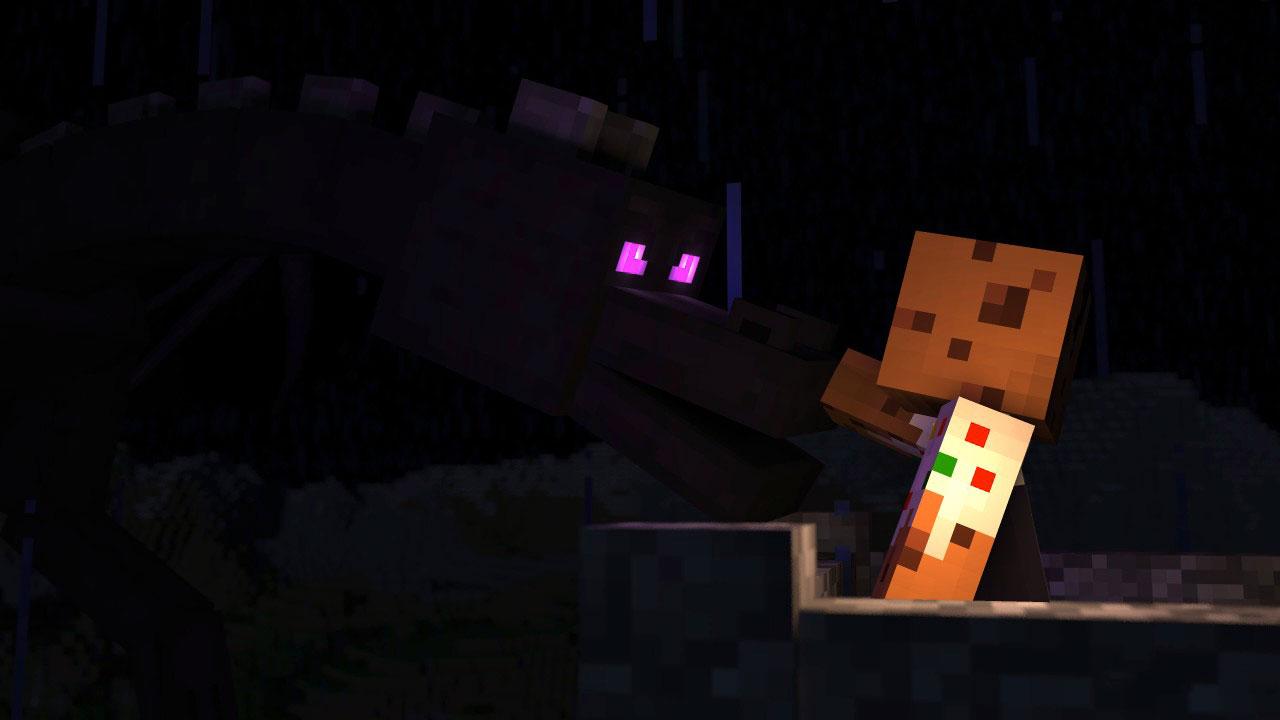 Friendly Ender Dragon in Minecraft