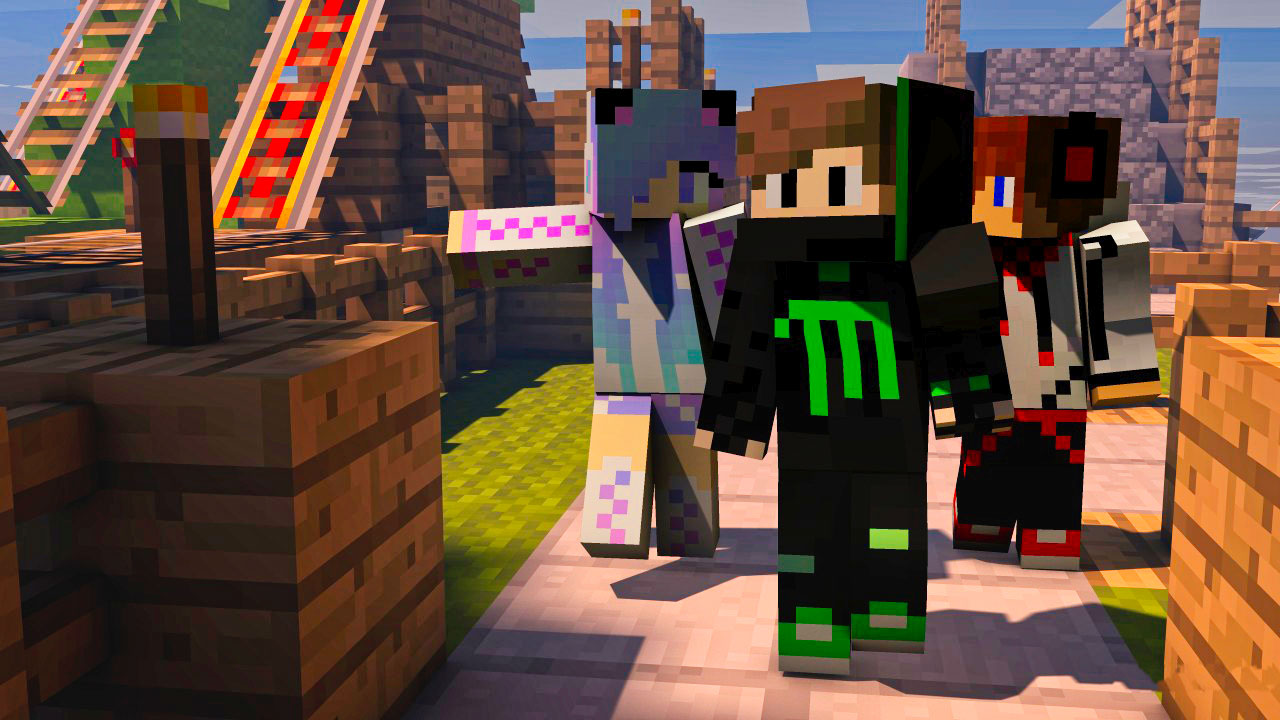 Minecraft Friends with Skins
