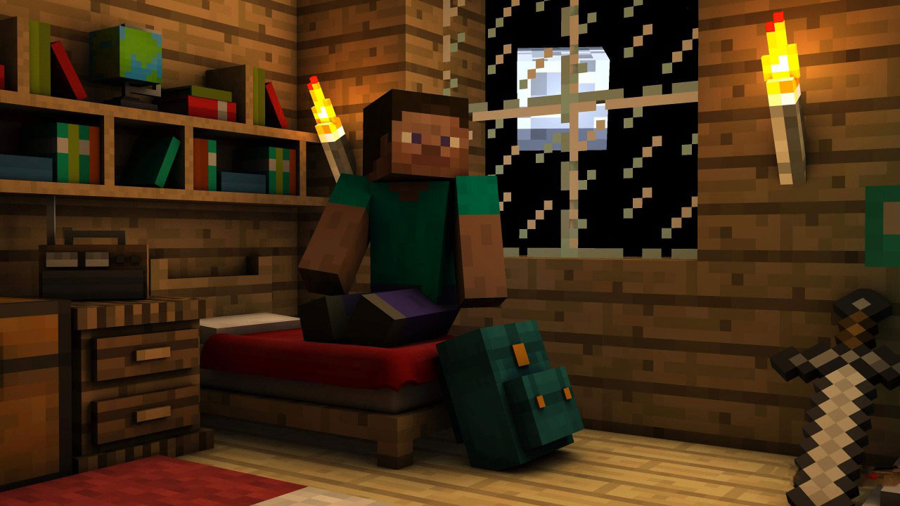 Minecraft - Steve Indoors