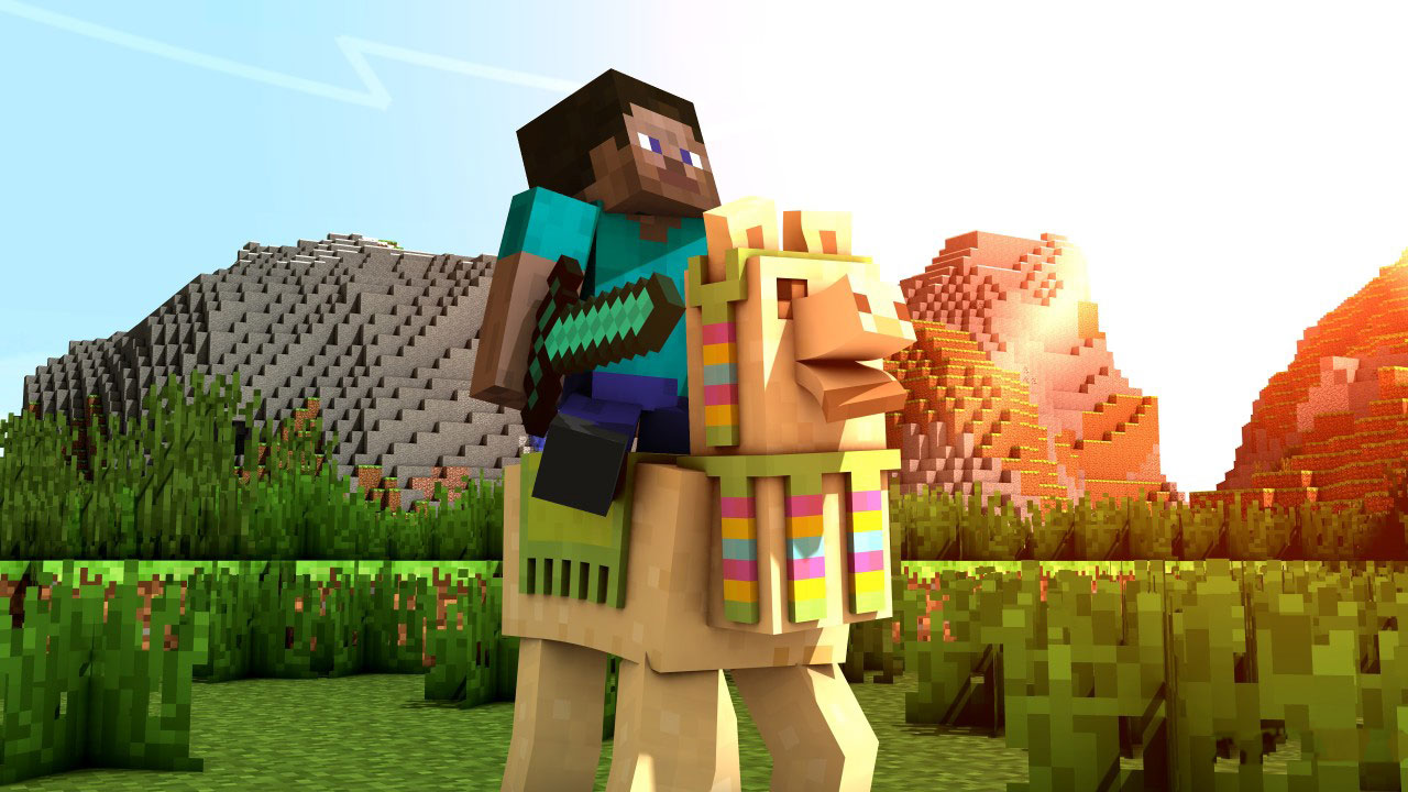 Minecraft - Steve on a Llama